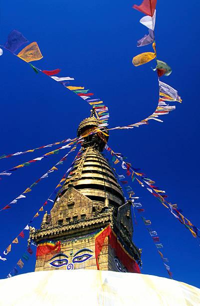 Nepal, Kathmandu, Swayambhunath temple..