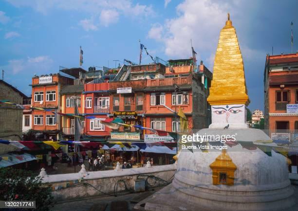 nepal. kathmandu. the boudha stupa. - 仏陀の目 ストックフォトと画像