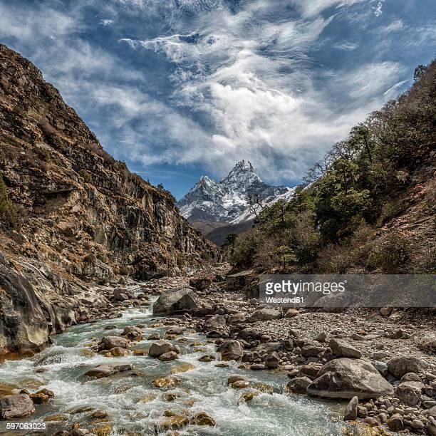 Nepal, Khumbu, Everest region, Ama Dablam