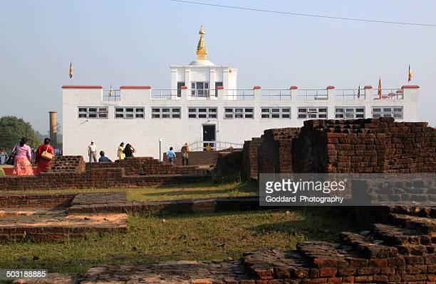 nepal: maya devi temple in lumbini - lumbini nepal stock pictures, royalty-free photos & images