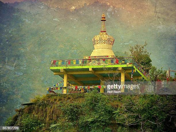 Nepal, on the road in Pokhara, temple