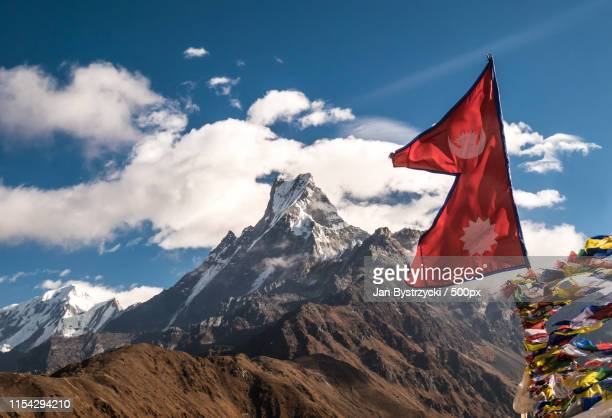 nepal - nepali flag stock pictures, royalty-free photos & images