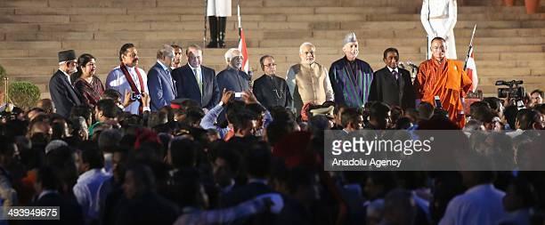 Nepal PM Suhil Koirala Bangladesh speaker Shirin Sharmin Chaudhury Sri Lankan President Mahindra Rajpaksa Pakistani PM Nawaz Sharif Indian...