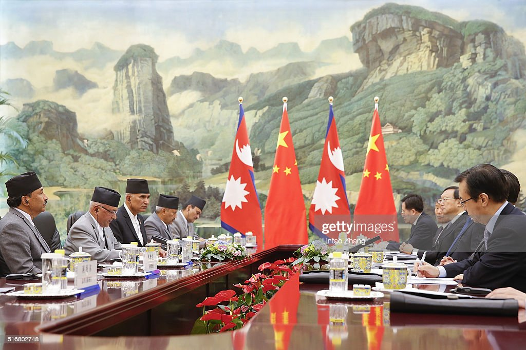 Nepal PM Khadga Prasad Sharma Oli Visits China : News Photo