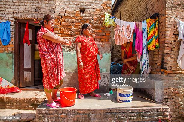 nepal street life - anton petrus stock pictures, royalty-free photos & images