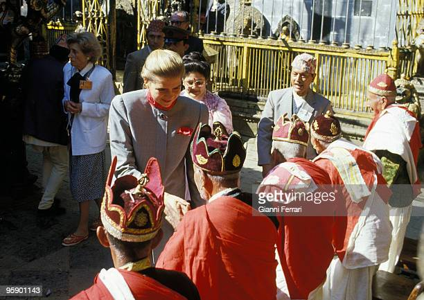 Nepal The Kings of Spain in Katmandu The Infanta Cristina in the Sacred Valley of Patan