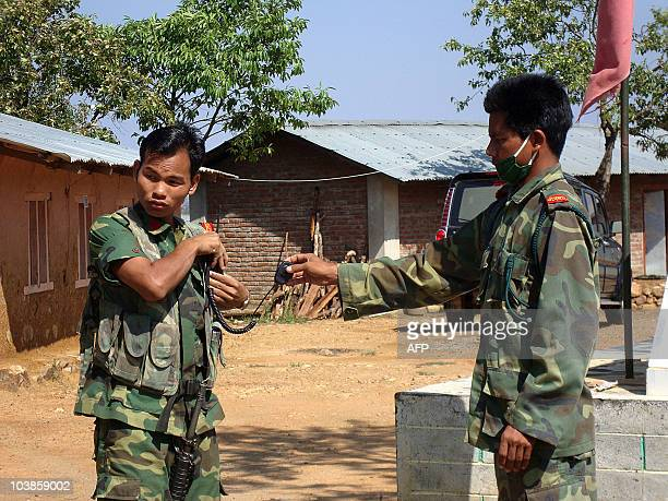 NepalconflictpoliticsarmyMaoist FEATURE by Subel Bhandari In a picture taken on June 20 2010 Nepalese Maoist exsoldiers handover equipment at the end...