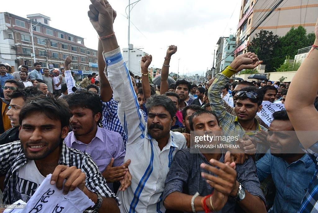 NEPAL-POLITICS-CONSTITUTION : News Photo