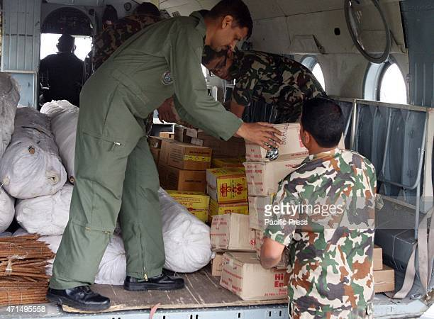 Nepalese army loading Indian Air force MI17 with relief material at Kathmandu The death toll in Nepals earthquake could reach 10 Prime Minister...