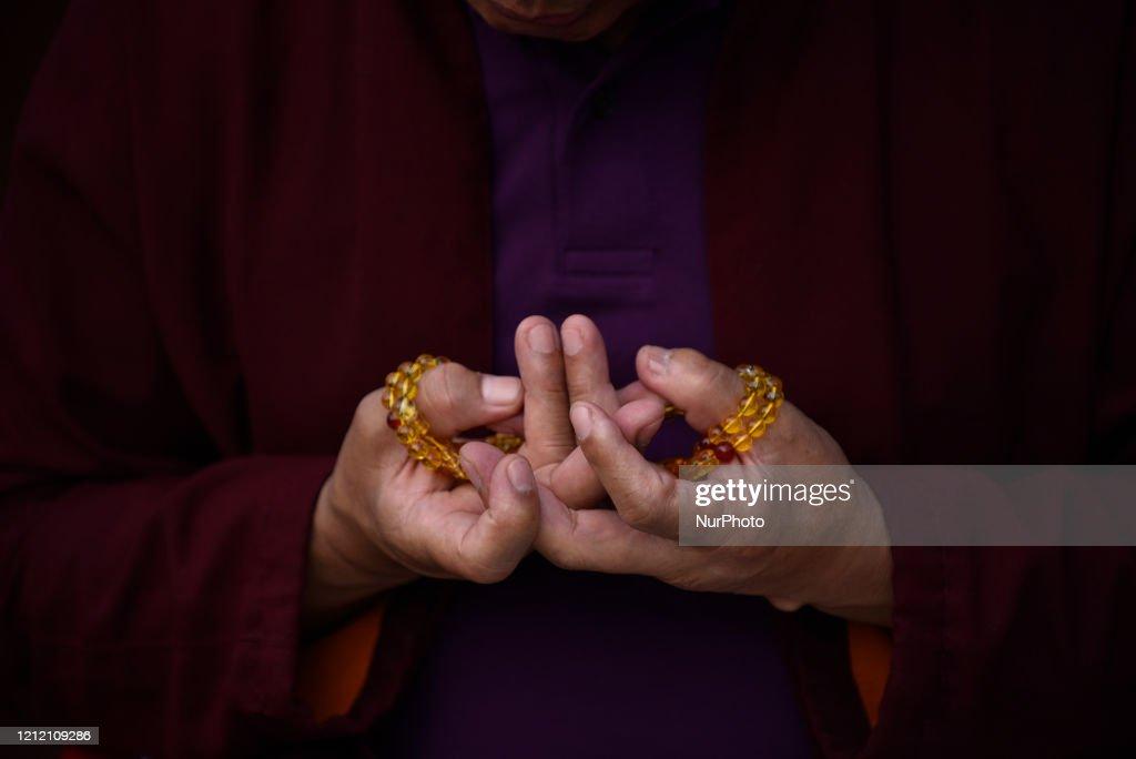 Buddha Purnima Festival Celebration During Complete Lockdown In Nepal : News Photo