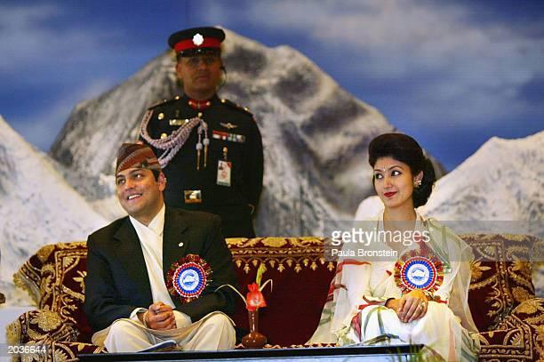 Nepalese Crown Prince Paras Bir Bikram Shah Dev and Princess Himani Rajya Laxmi attend ceremonies celebrating the 50th anniversary of the conquering...
