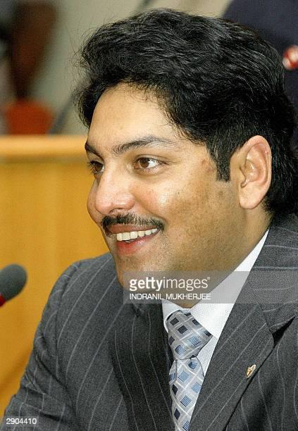 Nepalese Crown Prince Paras Bir Bikram Shah Dev smiles during his visit to India's second largest software exporter Infosys Technologies Ltd...