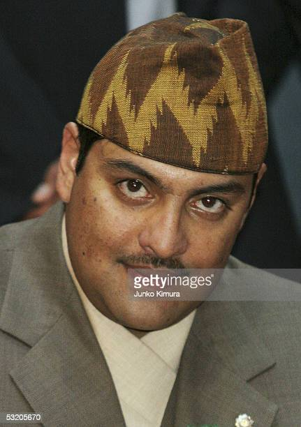Nepalese Crown Prince Paras Bir Bikram Shah Dev visits the Nepalese Pavillino at the 2005 World Exposition during the Nepalese National Day on July 7...