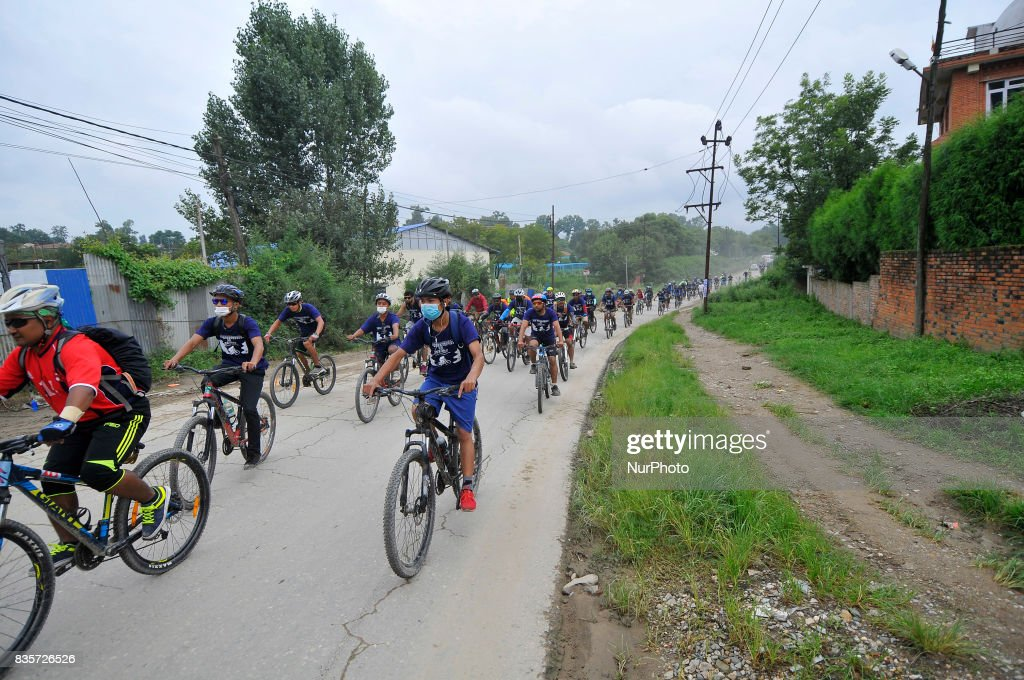 Nepalese cyclist participate 20Km Ride to Khokana, Cycling for the Cause, Contribute to Restoring Cultural Heritage program from Kasthamandap to Khokana, organised by Khokana Reconstruction and Rehabilitation Committee on Saturday, August 19, 2017.