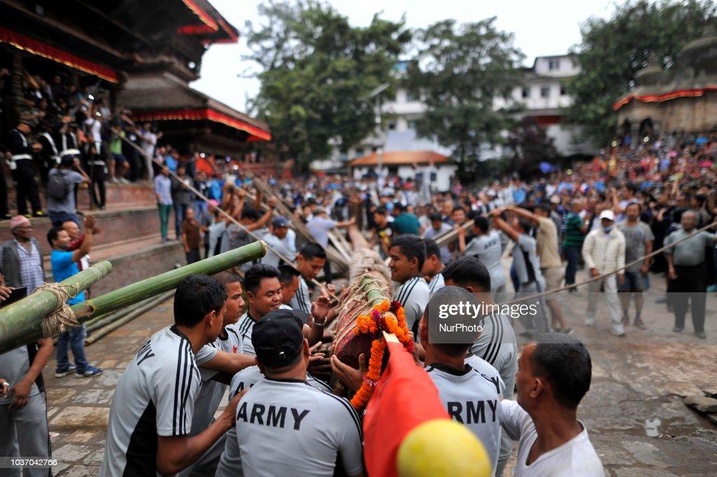 First day of Indra Jatra Celebrated in Kathmandu : News Photo