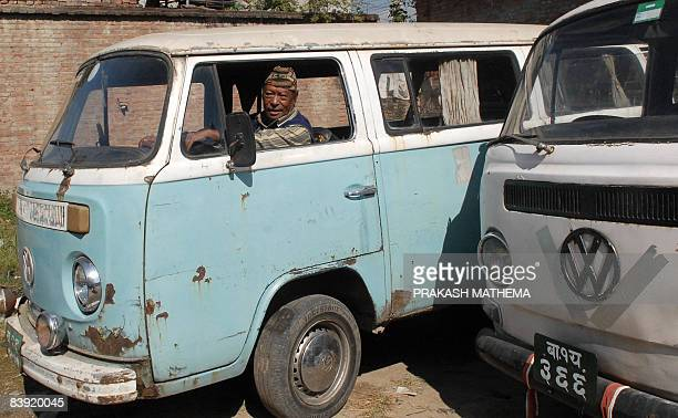 STORY 'LIFESTYLENEPALTRANSPORT' BY DEEPESH SHRESTHA Nepalese driver Amir Bahadur Tandukar drives his Volkswagen Combi van out of a garage in...