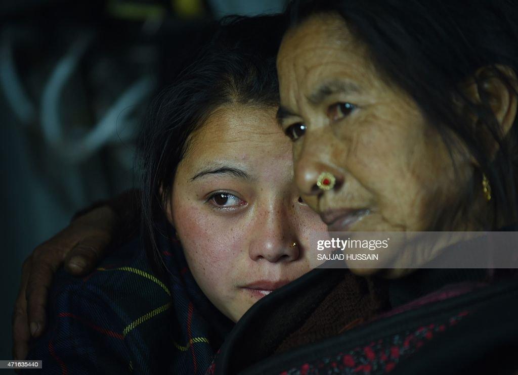 NEPAL-EARTHQUAKE : News Photo