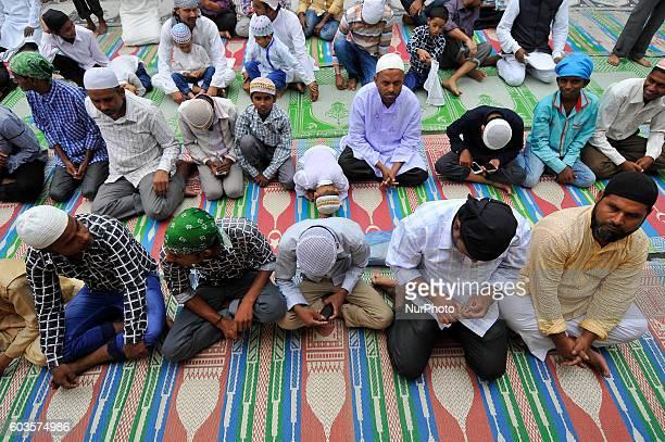 Nepalese Muslim offering ritual prayer during celebration of Bakra Eid or Eid alAdha or IdulAzha on Tuesday September 13 2016 in Kashmiri Jame Mosque...