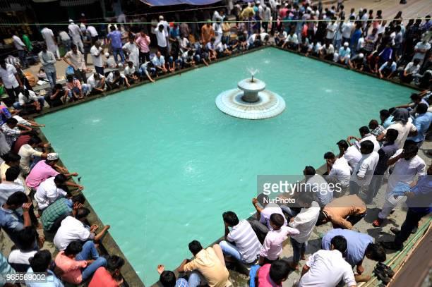 Nepalese Muslim washes his hands face and feet before offering ritual prayers of Ramadan at Kashmiri Takiya Jame mosque at Kathmandu Nepal on Friday...