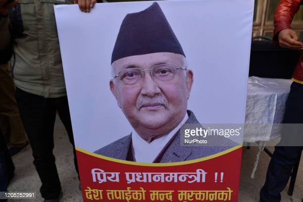Nepalese people and Supporters gathered around hospital premises with pla cards during second time Kidney transplant of Prime Minister KP Sharma Oli...
