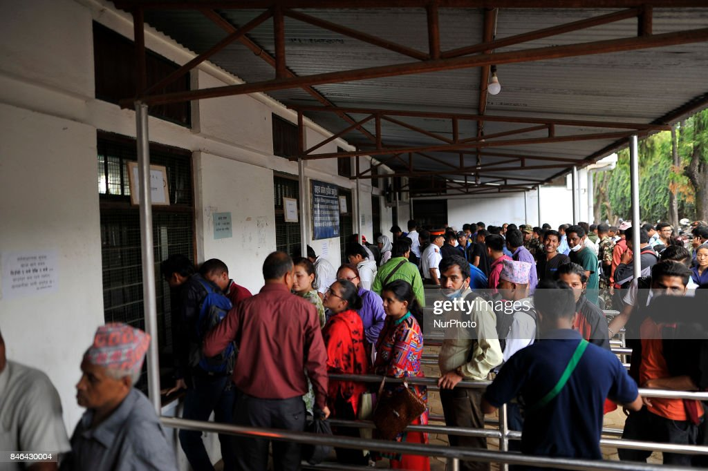 Nepalese people exchange new notes for the Biggest Dashain Festival in Kathmandu on Wednesday, September 13, 2017. The central bank said for general public can exchange as much as Rs 27,000 each from its Currency Management Division.