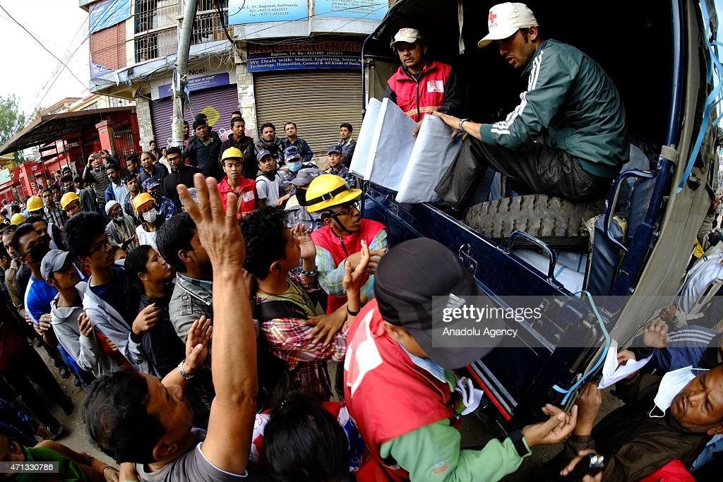 Powerful earthquake hits Nepal : News Photo