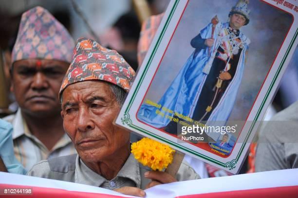 Nepalese people lining to offer greeting towards Former King Gyanendra Shah on his 71th birthday at his residence Nirmal Niwas, Maharjagunj,...