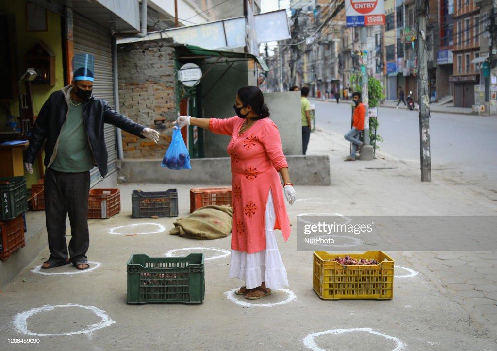 Covid-19 Lock Down In Nepal : News Photo