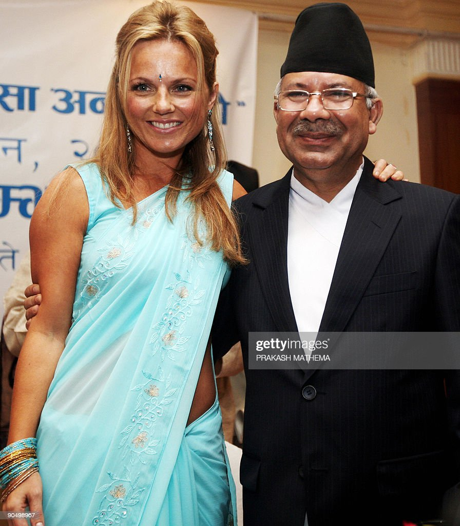 Nepalese Prime Minister Madav Kumar Nepa : News Photo