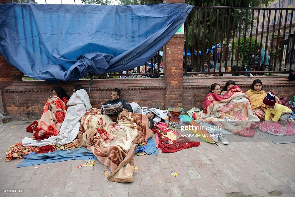 NEPAL-DISASTERS-EARTHQUAKE : News Photo