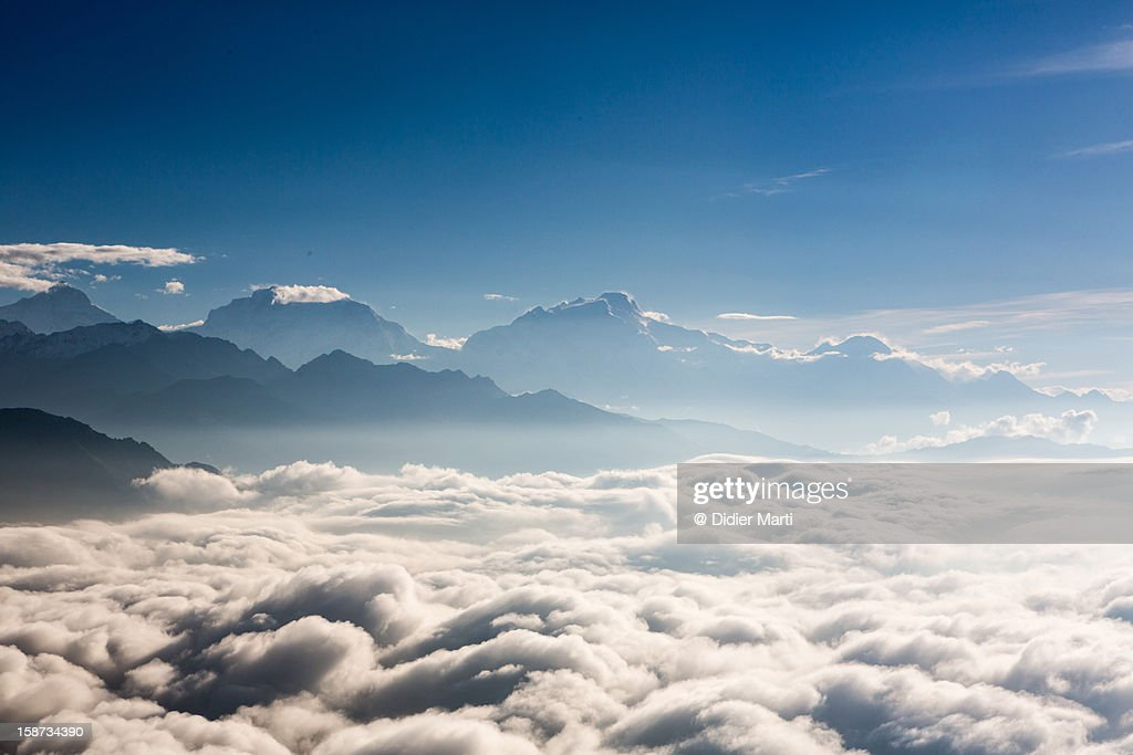 Nepalese sea of clouds : Stock Photo