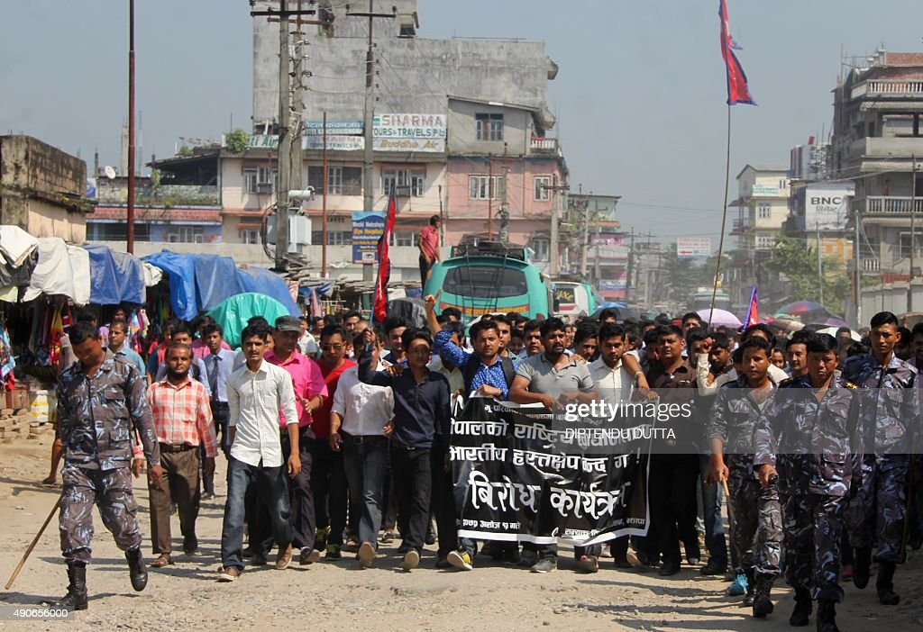 NEPAL-INDIA-CONSTITUTION-PROTEST : News Photo