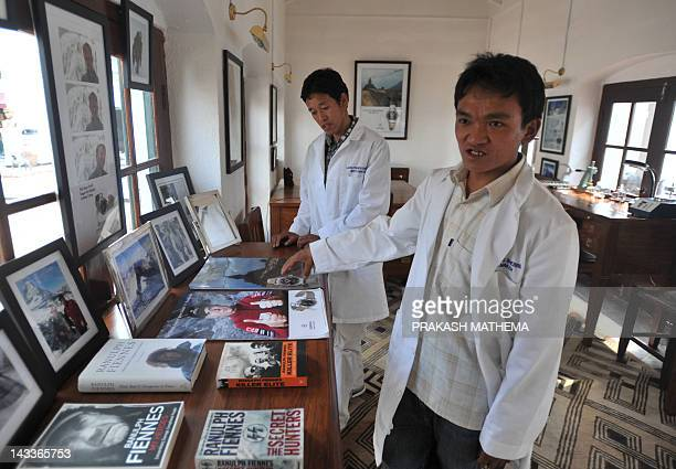 Nepalese watchmakers Ang Namgel Sherpa and Lakpa Thundu Sherpa are pictured at the Kobold watch workshop in Kathmandu on April 25 2012 AFP...