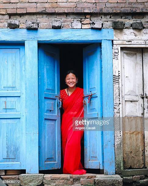 Nepalese Woman in Doorway