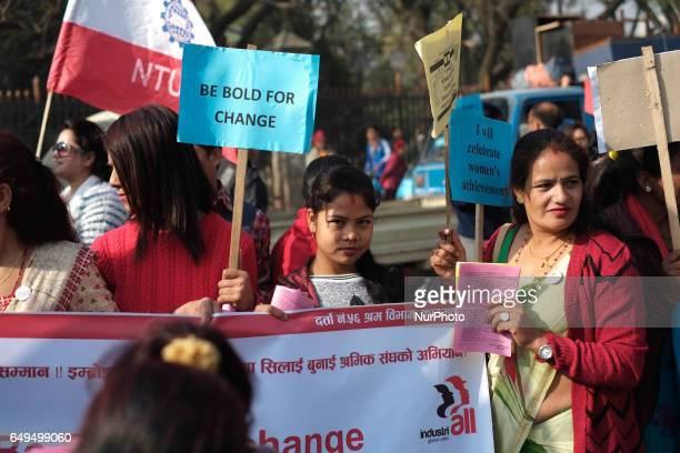 Nepalese women participate in a rally marking the 107th International Women's Day in Kathmandu Nepal March 8 2017