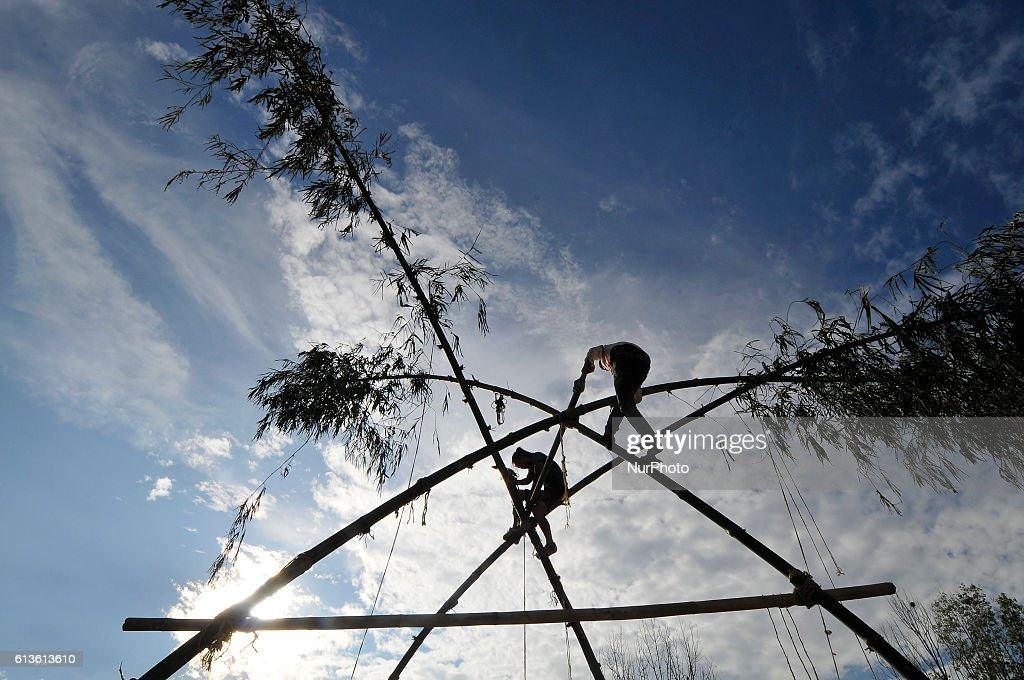 Traditional Bamboo Ping for Dashain Celebration : News Photo