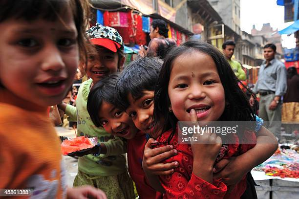 nepali childdren - nepal stock pictures, royalty-free photos & images