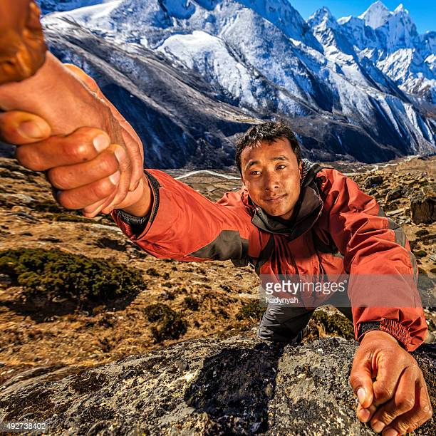 """Le népalais'Everest Sherpa"""" escalade dans l'Himalaya"""