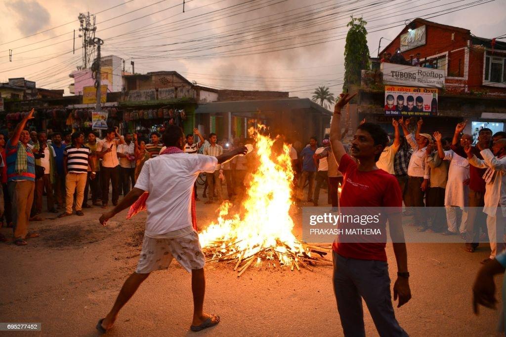 NEPAL-POLITICS-PROTEST : News Photo