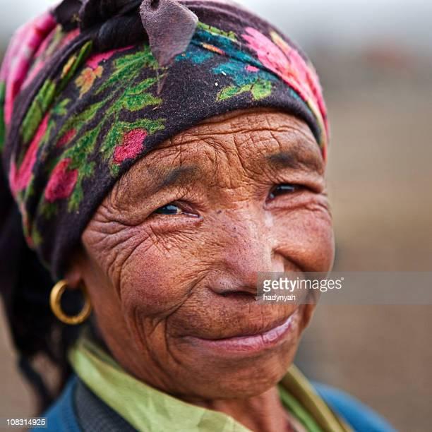 Nepali woman working in the field