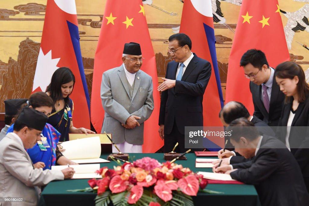 Nepal's Prime Minister Visits China : News Photo