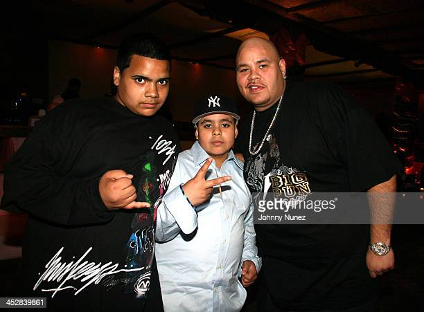 Nephew of Fat Joe Little Joe and Fat Joe during Baby Shower for Lorena Rios Fat Joe's Wife at Cain in New York New York United States