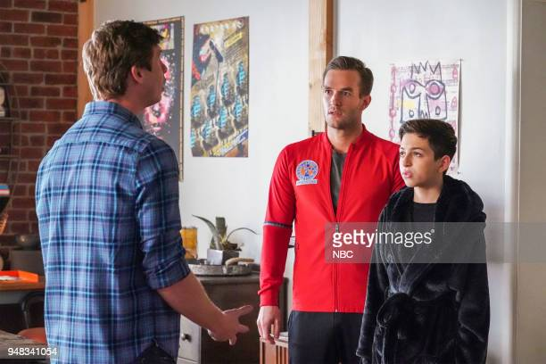 CHAMPIONS 'Nepotism' Episode 108 Pictured Anders Holm as Vince Andy Favreau as Matthew JJ Totah as Michael