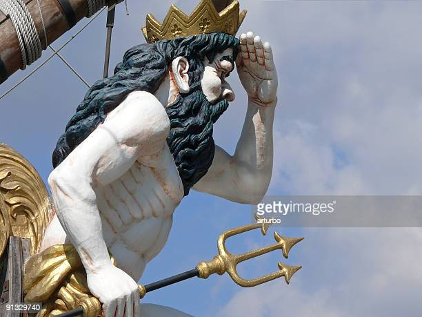Neptun statue with trident
