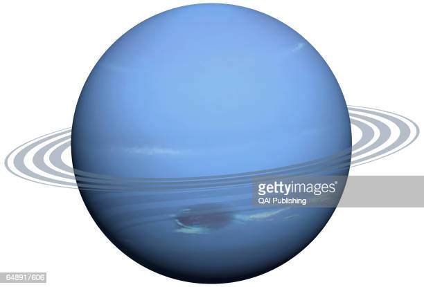 Neptune, Neptune is a bluish planet that is very similar to Uranus; it is slightly smaller but has more mass. It was discovered by the astronomer...