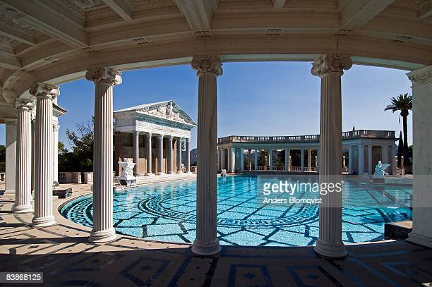 neptune pool at hearst castle, california - hearst castle stock pictures, royalty-free photos & images