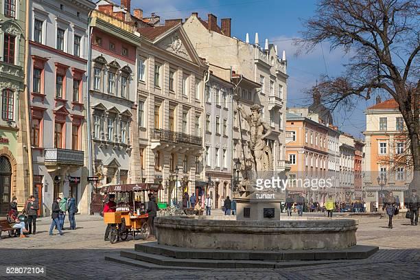 Neptune Statue in Market Square, Lviv