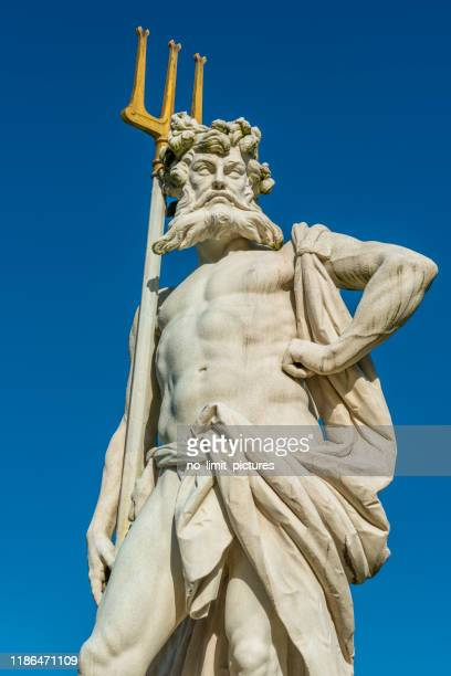 neptune with trident - roman god stock pictures, royalty-free photos & images