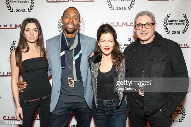 Neraida Bega Treva Etienne Kira Reed Lorsch and Richard Friedman attend a screening of Acts Of Desperation At Culver City Film Festival Starring Paul...