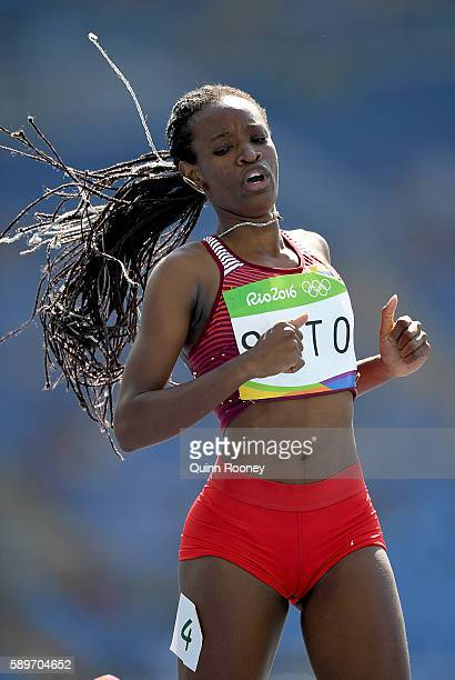 Nercely Soto of Venezuela competes in round one of the Women's 200m on Day 10 of the Rio 2016 Olympic Games at the Olympic Stadium on August 15 2016...